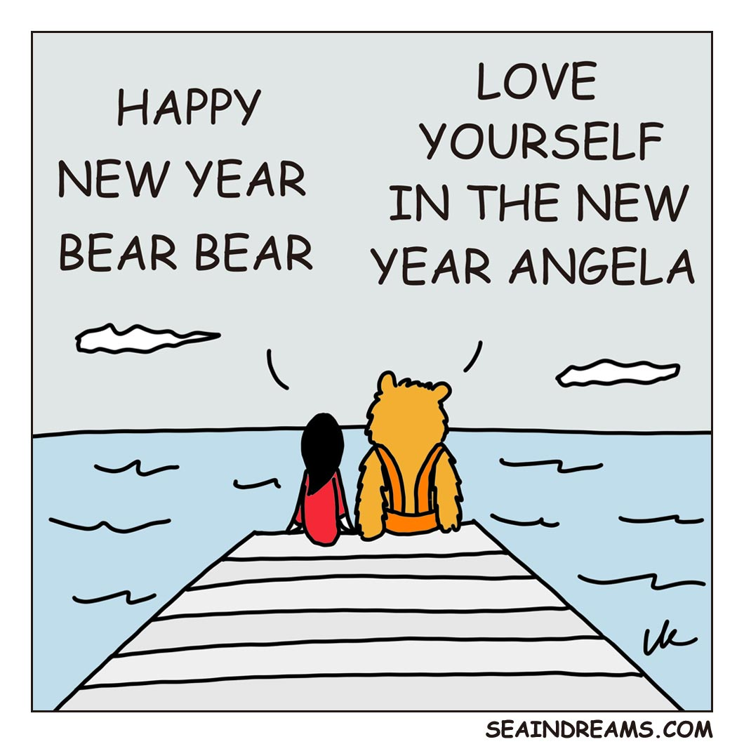 Love Yourself In The New Year | seaindreams.com comics