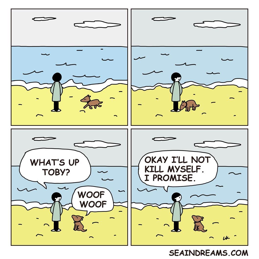 Man, Dog and the Sea | seaindreams.com comics