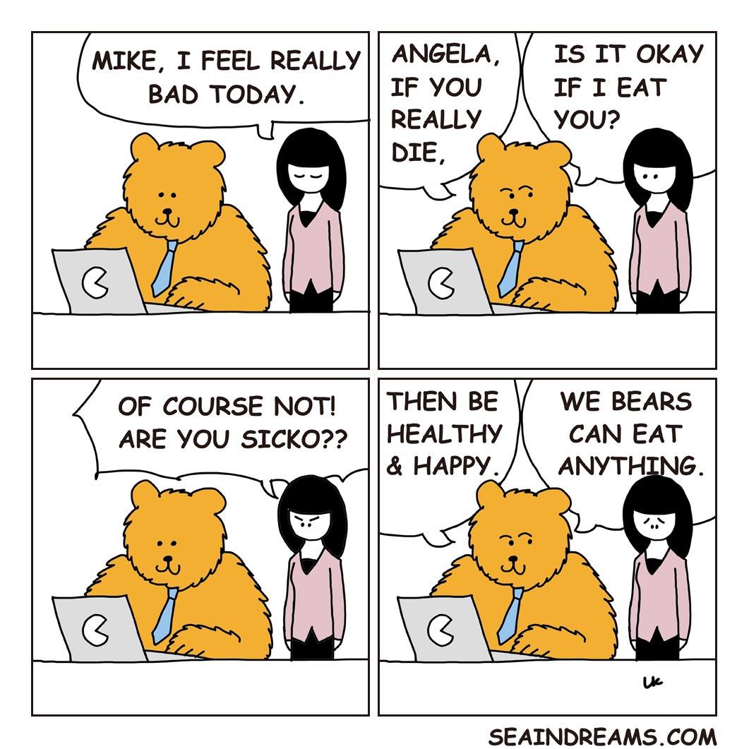 Bear and Girl | seaindreams.com comics