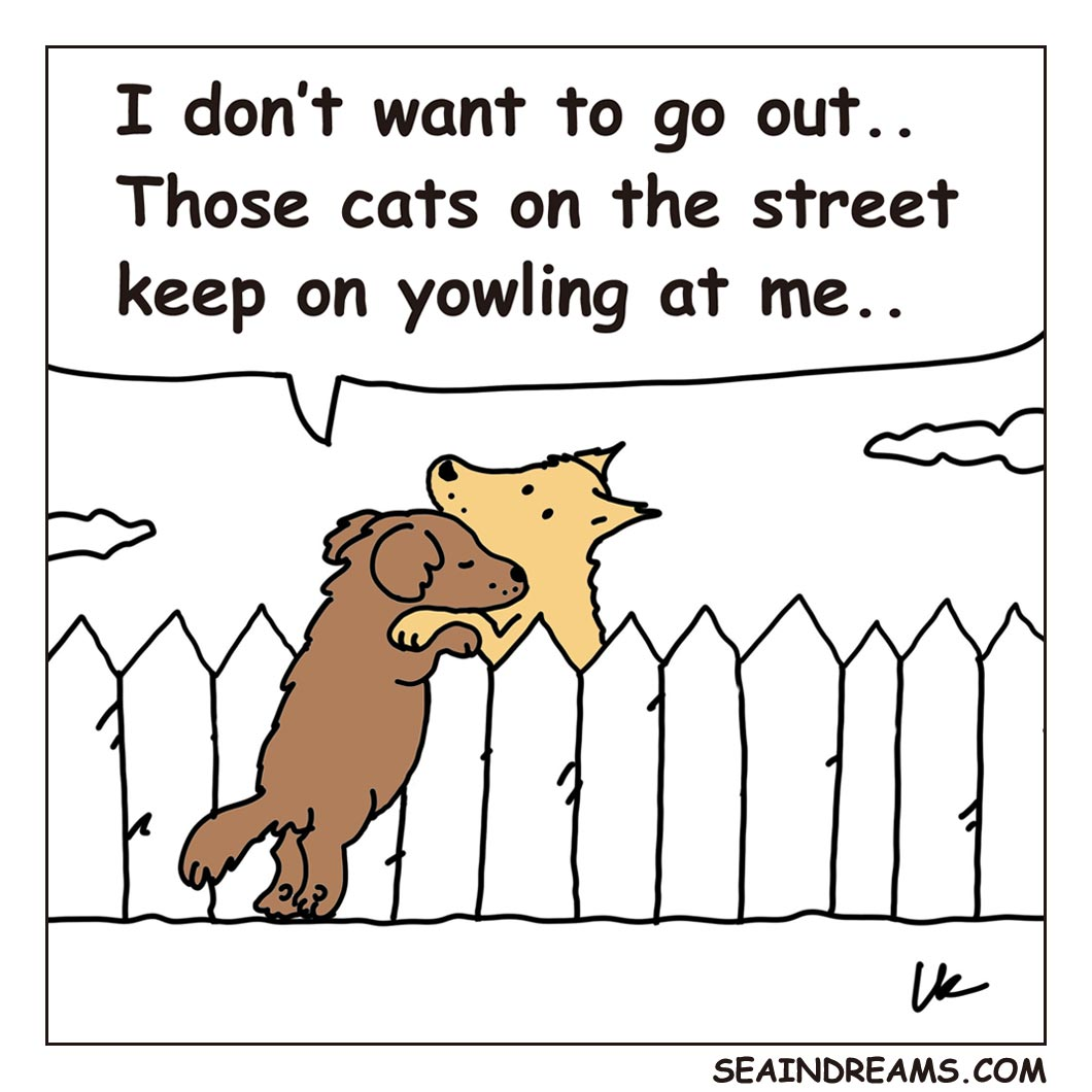 I don't want to go out | seaindreams.com comics