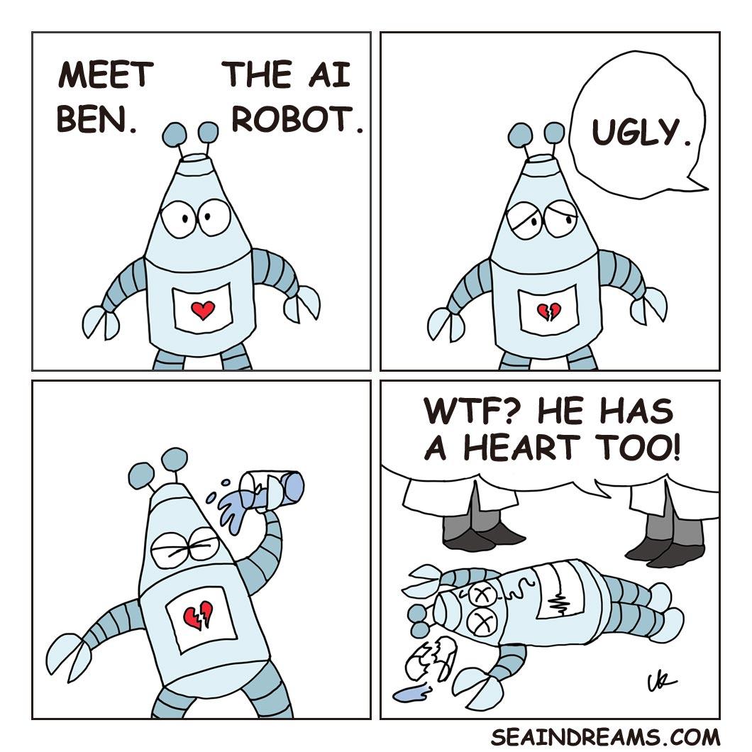 The suicide of a robot   seaindreams.com comics